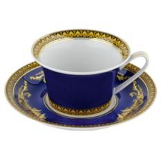 Чайная пара Versace Medusa, синяя