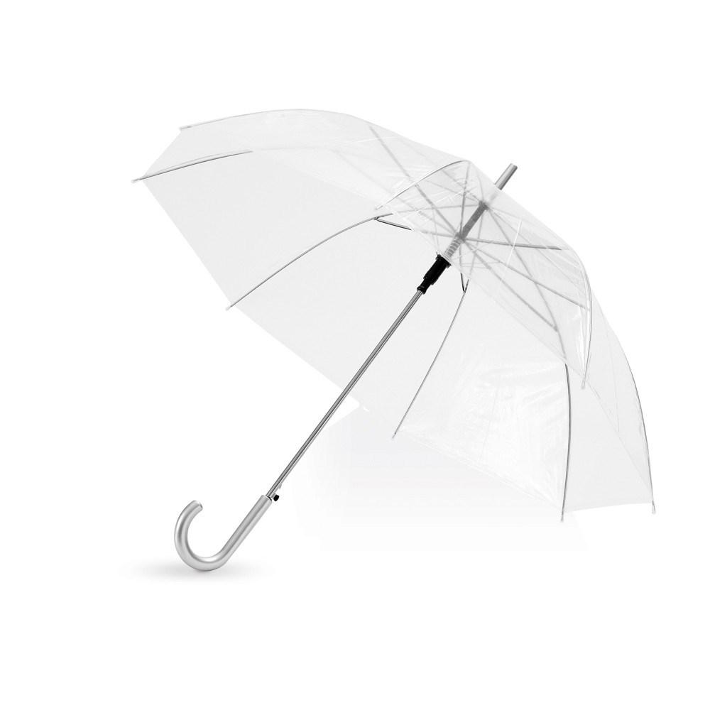Прозрачный полуавтоматический зонт-трость