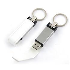 Флешка-брелок Leather Magnet (32 Gb) в подарочной коробке