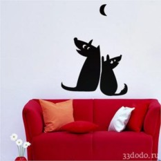 Интерьерная наклейка Собачья романтика