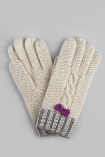 Перчатки Вилма, бело-серые