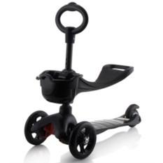 Черный детский трехколесный самокат