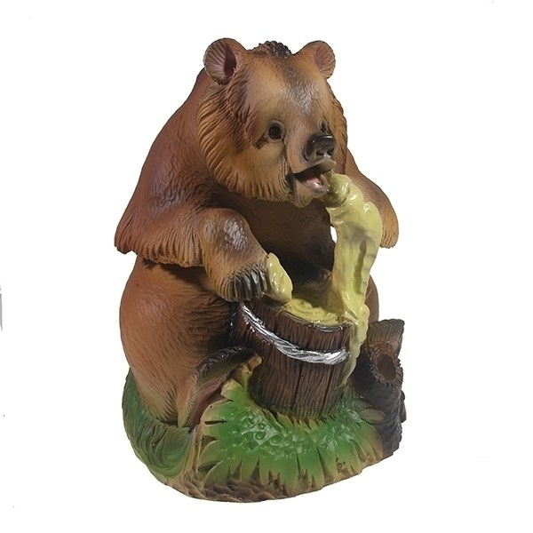 Ландшафтная фигурка для дачи и сада Мишка с медом