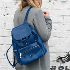 Синий рюкзак c клапаном