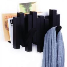 Черная вешалка-газетница Sticks