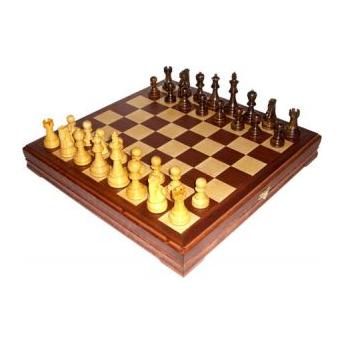 Шахматы стандартные деревянные с утяжелением