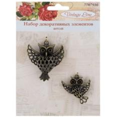 Набор декоративных элементов Совы, 2 шт.