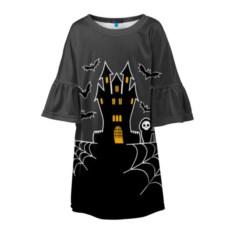 Детское 3D платье Хэллоуин. Замок