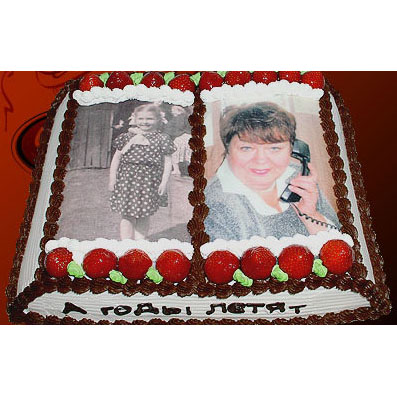 Печать фото на торте киев