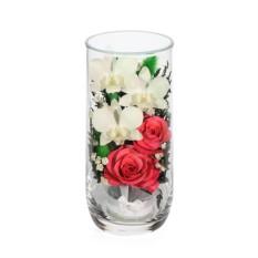 Цветочная композиция из розовых роз