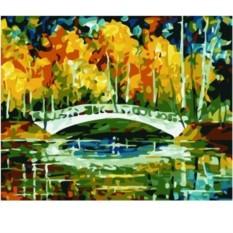 Картина по номерам Осенний пруд