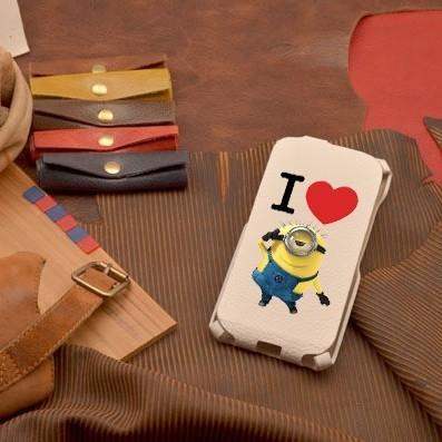 Кожаный чехол-флип для iPhone 6S / 6 Love Minyon