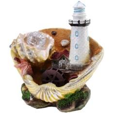 Настольный декоративный фонтан с подсветкой Маяк