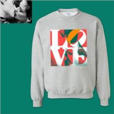 Толстовка с дизайнерским принтом Любовь