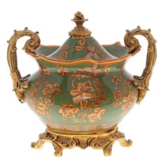 Фарфоровая ваза для конфет с крышкой