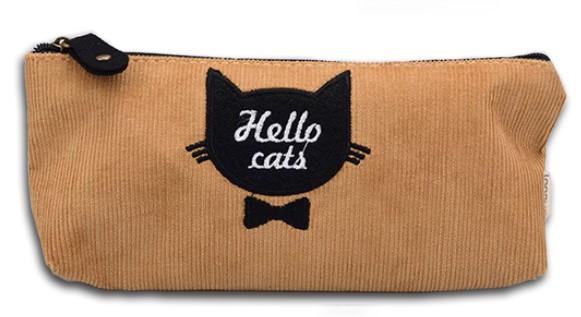Бежевый пенал Hello cats