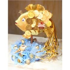 Букет из конфет Золотая рыбка