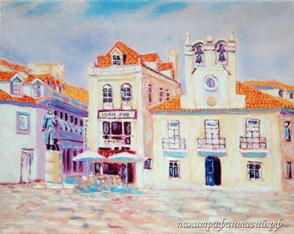 Картина Тихий городок в Португалии