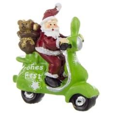 Фигурка Дед Мороз на скутере (7 см)
