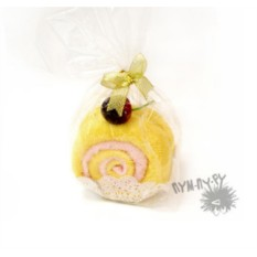 Махровый десерт Лимонный рулет с вишней