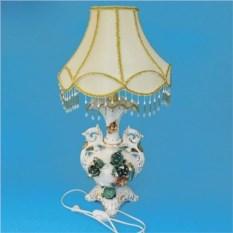Керамическая лампа с абажуром