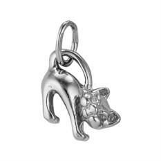 Серебряная подвеска в виде кошки