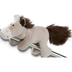 Мягкая игрушка-магнит Nici Лошадь (цвет: серо-бежевый)