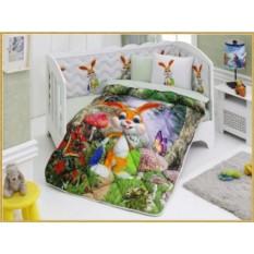 Детский комплект в кровать с бортиками V1