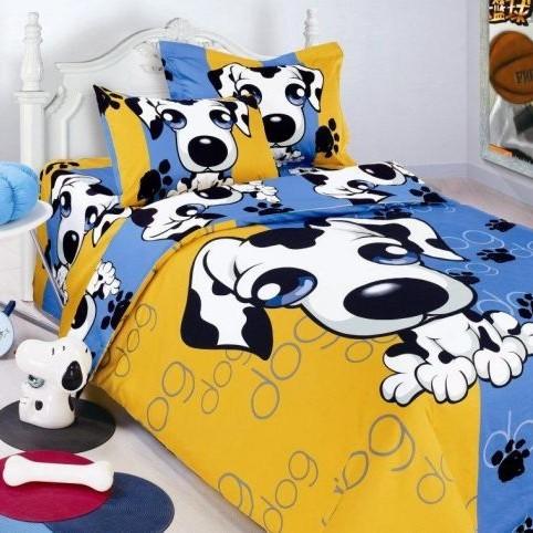 Детское постельное бельё PUPPY-BLUE