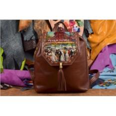Женский рюкзак с принтом Мулен Руж
