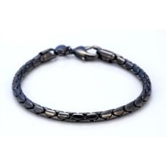 Браслет из металла с черным лаком