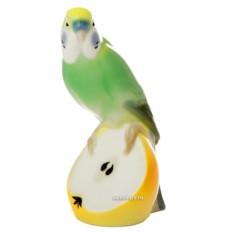 Фарфоровая скульптура Волнистый попугайчик Кеша