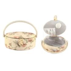 Кремовая шкатулка для рукоделия Сундучок