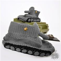 Тапки-танки (серые)