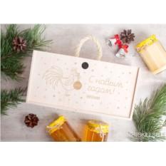 Подарочный набор из 3 банок мёда «Новогоднее настроение»