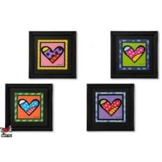 Постер Britto в деревянной рамке, коллекция Heart 2