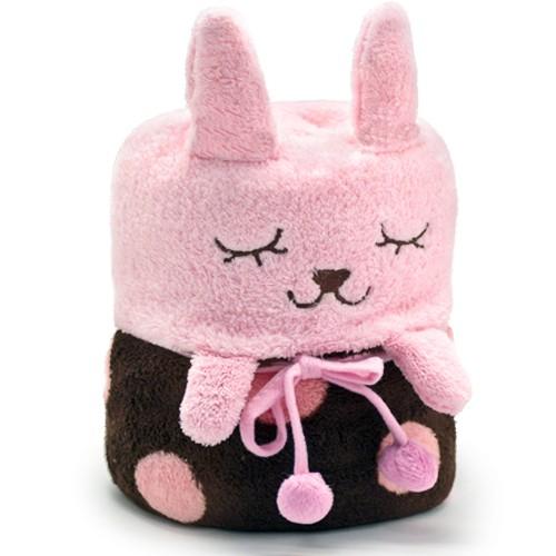 Плед-трансформер Rabbit, розовый