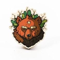 Значок WafWaf Медведь Forrest Warrior