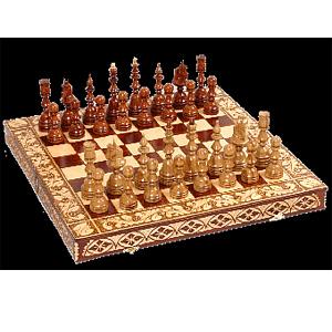 Шахматы «Русские узоры» 50 х 25 см
