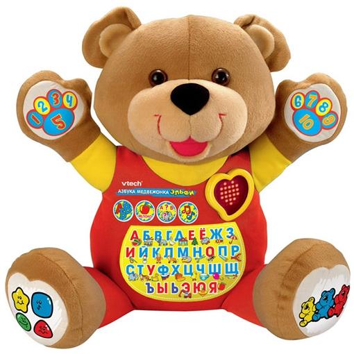 Мягкая развивающая игрушка «Медвежонок Эльфи»