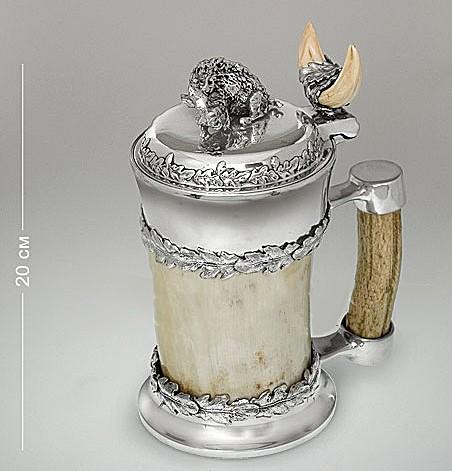 Кружка для пива из рога Вепрь
