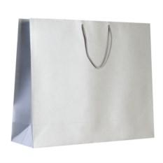 Большой серебристый бумажный пакет Блеск