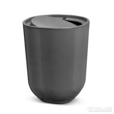 Тёмно-серый мусорный контейнер Skinny