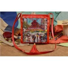 Женская сумка-планшет с принтом Мулен Руж