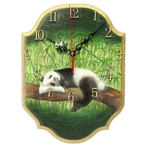 Часы настенные Спящая панда