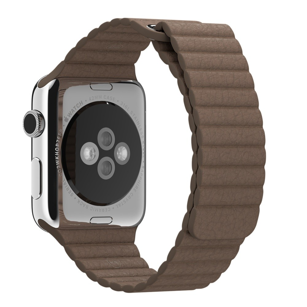 Кожаный ремешок Light Brown Leather Loop для Apple Watch