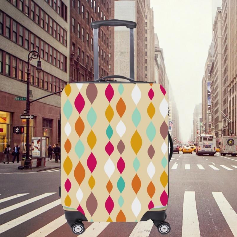 Чехол для чемодана CITY - Stripes с поисковой меткой