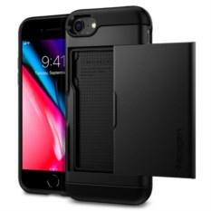 Чехол-визитница Spigen для iPhone 7 Slim Armor CS Black