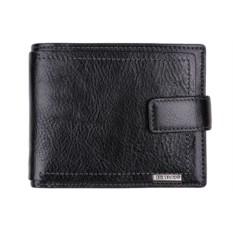 Чёрный мужской кошелёк из натуральной кожи Leo Ventoni