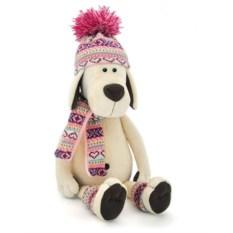 Мягкая игрушка Собачка Лапуська в шапочке, 30см, Orange Toys